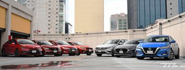 Comparativa: el duelo final de siete sedanes compactos a la venta en México
