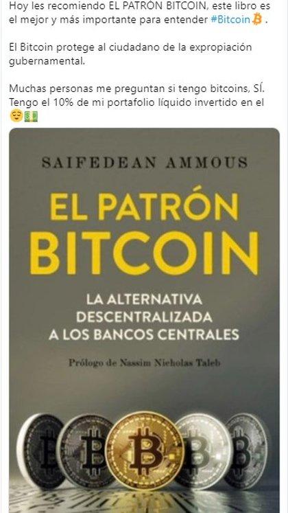 Las ganancias de Bitcoin ayudaron a compensar los intereses comerciales de Salinas (Foto: Twitter Ricardo Salinas Pliego)